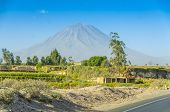 Volcano Misti, view from the road from Pan-American Highway to Arequipa