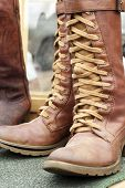 Close Up Of Vintage Cowboy Boots