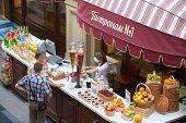 Vendor Selling Fruit Juice To Buyers