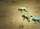 Green Origami Frogs