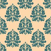 Vintage seamless pattern with abstract iris flowers