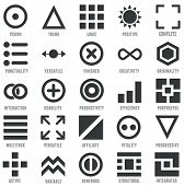 Set Of Geometric Icons As Symbols Of Human Qualities