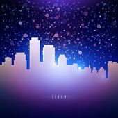 Night City Sky With Stars Background For Your Text