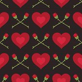 Hearts And Roses Pattern