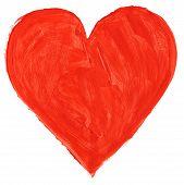Red Handpainted Heart