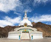 Tall Shanti Stupa  Leh - Jammu And Kashmir - Ladakh