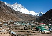 Dingboche Village And Mount Lhotse