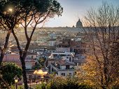 Rome Panorama With Roof Gardens