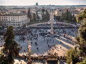 Piazza Del Popolo In Rome