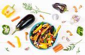 Eggplant And Mushrooms Saute
