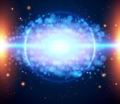 Abstract cosmic light background eps 10.