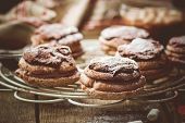 Chocolate Cakes Bouchee  Of A Cream Puff