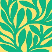 Grunge retro seamless pattern of colored leaves.