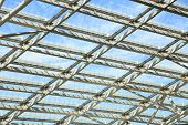 Glass roof with aluminium structure