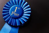 The Prize For First Place On A Dark Background