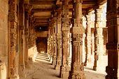 Sandstone columns at Qutab Minar, Delhi, India