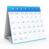 3D Detailed Desk Calendar