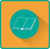 Open book. Flat vector icon