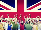 Diversity of British Community People Hapiness Concept