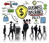 Silhouette People Commuter Safety Risk Business Insurance Concept