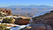 Mountains In Canyonlands National Park, Utah In Winter