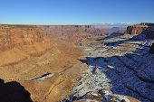 Shafer Canyon In Canyonlands National Park, Utah In Winter
