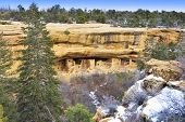 Spruce Tree House In Mesa Verde National Park, Colorado In Winter
