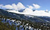 High Mountains Of Colorado In Winter