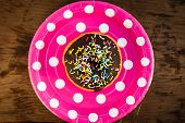 Bright Donut On The Plate
