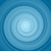 Abstract blue bright circles background. Vector design