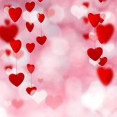 Happy Valentine day background, close-up.
