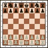 foto of chessboard  - Chessboard or character set of chess pieces - JPG