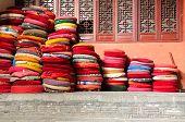 Stacked Prayer Cushions