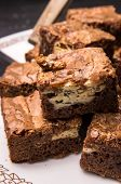 Cream Cheese Brownies On A Plate