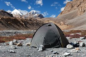 picture of himachal  - Tent in Himalayan mountains  - JPG