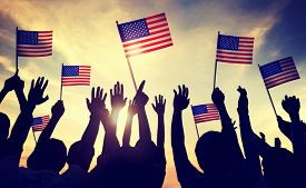 picture of four  - Flag USA July 4 Celebration Indendence Day Concept - JPG