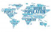 foto of population  - World Population Global People Community International Concept - JPG