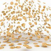 foto of golden coin  - Rain from the golden coins - JPG