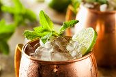 foto of mule  - Icy Cold Moscow Mules with Ginger Beer and Vodka - JPG