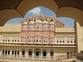 picture of lord krishna  - interior part of hawa mahal the palace of winds of heritage city jaipur - JPG