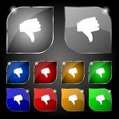 image of dislike  - Dislike Thumb down icon sign - JPG