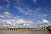 image of bordeaux  - Famous bridge Pont de Pierre - JPG