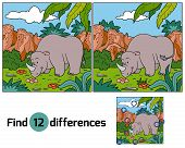 picture of rhino  - Game for children - JPG