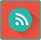 picture of fi  - Vector wi fi web flat icon - JPG