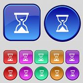 stock photo of sand timer  - Hourglass Sand timer icon sign - JPG
