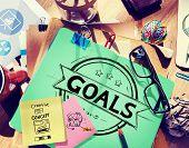 image of encouraging  - Goal Aspiration Expectation Encourage Dreams Concept - JPG