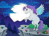 pic of pegasus  - Night scenery with pegasus  - JPG