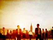 picture of hustle  - Business People Rush Hour Walking Commuting City Concept - JPG