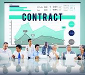 stock photo of bartering  - Contract Deal Business Marketing Strategy Concept - JPG