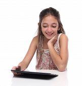 foto of pre-teen girl  - Beautiful pre - JPG